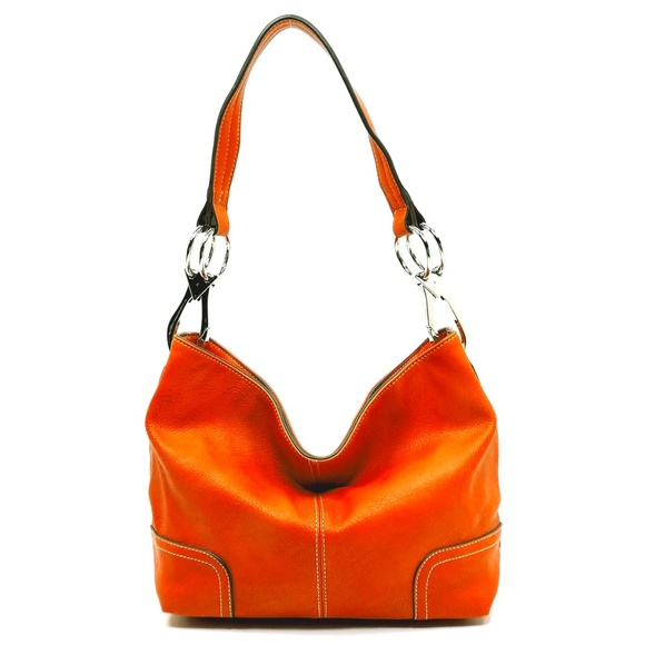 Handbags - Orange Classic Bucket Bag